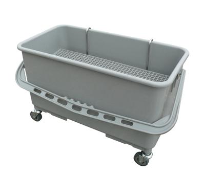 施达清洁工具22公升平拖桶带挂夹、排水筛和轮子
